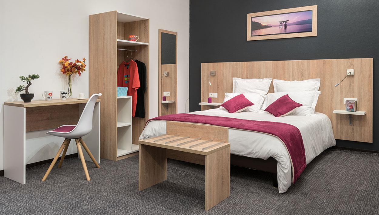 Meubles pour hotel commandez en ligne la chambre basika for Chambre 13 serie